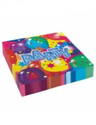 20 Tovaglioli di carta Party multicolor