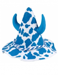 Cappello bavarese da mucca con corna adulto
