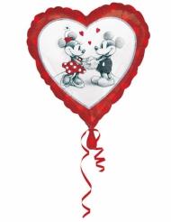 Palloncino in alluminio a cuore Minnie™ e Topolino™ 43 cm