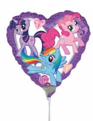 Palloncino a cuore in alluminio My Little Pony™ 23 cm