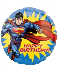 Palloncino in alluminio Happy Birthday Superman™ 43 cm