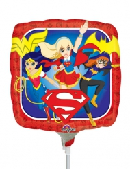 Palloncino in alluminio quadrato Dc Super Hero Girls™ 23 cm