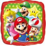 Palloncino in alluminio quadrato Super Mario™ 23 cm