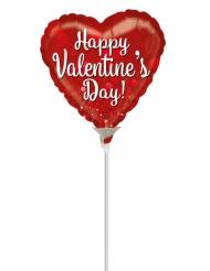 Palloncino in alluminio cuore Happy Valentine