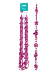 6 Collane con fenicotteri rosa e fiori di Hibiscus
