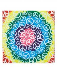 Bandana della pace hippie multicolore 55 cm