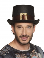 Cappello a cilindro Steampunk con fibbia per adulto