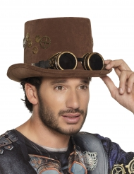 Cappello Steampunk con ingranaggi per adulti