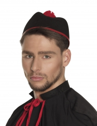 Cappello da cardinale per adulto