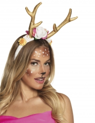 Cerchietto cervo dorato donna