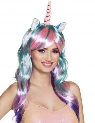 Parrucca lunga unicorno per donna