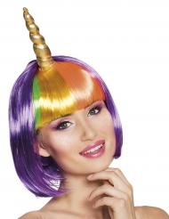 Parrucca unicorno viola donna