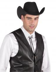 Collana da sceriffo argentata per adulto