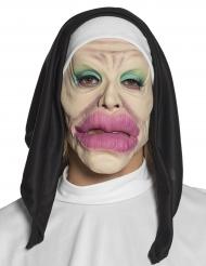 Maschera umoristica da religiosa per adulto