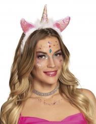 Cerchietto unicorno rosa per donna