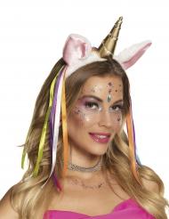 Cerchietto unicorno arcobaleno per donna