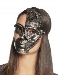 Mezza maschera robot Steampunk per donna