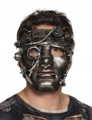 Maschera viso di ferro Steampunk per adulto