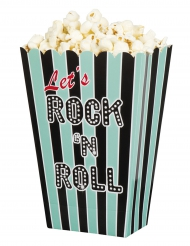 4 Scatole per pop corn Rock e Roll