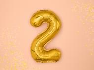 Palloncino cifra 2 dorato 36 cm