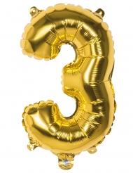 Palloncino cifra 3 dorato 36 cm