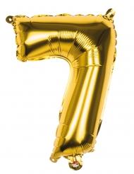 Palloncino cifra 7 dorato 36 cm