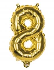 Palloncino in alluminio numero 8 dorato 36 cm