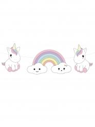 Ghirlanda di carta bebé unicorno
