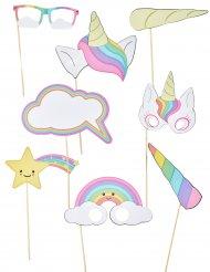 Kit Photobooth Unicorno bebe 8 pezzi