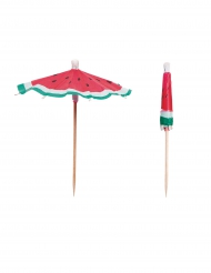 12 ombrellini per cocktail anguria