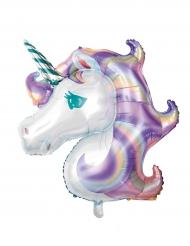 Palloncino in alluminio Unicorno Pastello