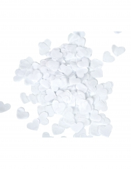 Coriandoli decorativi a cuore bianchi 20 gr