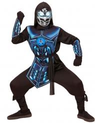 Costume cyber ninja luminoso e sonoro per bambino