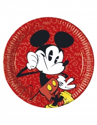 8 Piatti di carta Mickey™ retro