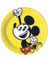 8 Piatti di carta Mickey™ retro - giallo