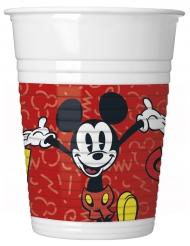8 Bicchieri di plastica Mickey™ retro