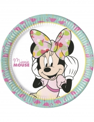 8 piatti di carta Minnie™ Tropical