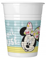 8 bicchieri di plastica Minnie™ Tropical
