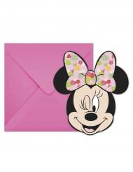 6 Inviti di compleanno con busta Minnie™ Tropical