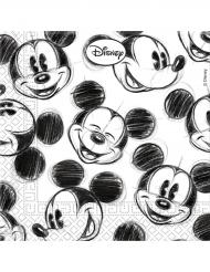 25 Tovagliolini di carta Mickey™ retro bianco e nero