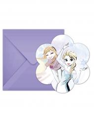 6 inviti di compleanno Frozen™ con buste lilla
