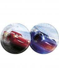 8 piatti in cartone 23 cm Cars 3™ Saetta McQueen™ e Jackson Storm™