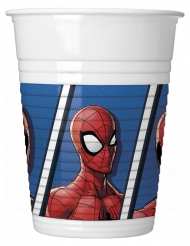 8 Bicchieri in plastica Spiderman™ 200 ml