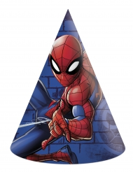 6 cappellini di festa di carta Spiderman™