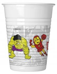 8 bicchieri di plastica Avengers™ grigi