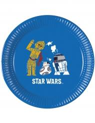 8 Piatti in cartone Star Wars Force™ 20 cm