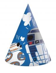 6 Cappelli da festa in cartone Star Wars Force™