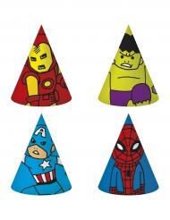 6 cappellini da festa di carta Avengers™