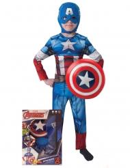 Costume Capitan America™ con scudo per bambino