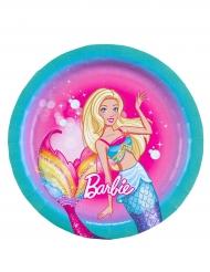 8 Piatti piccoli in cartone Barbie™ 18 cm